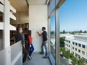 Research and lab spaces include white boards for scientists to share ideas and their work.