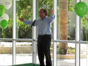 Rich Robbins, head of Warehman Development, unveiled the firm's newest commercial building in Emeryville.