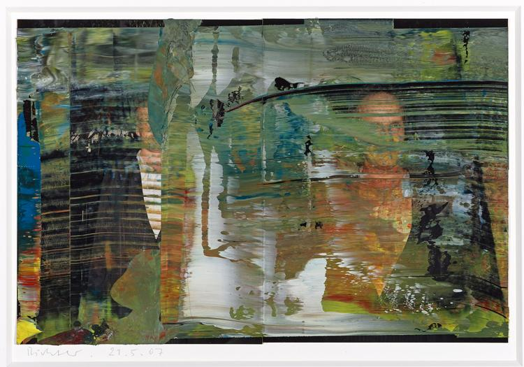 Gerhard Richter, Untitled (21.5.07), valued at $75,000 to $85,000.