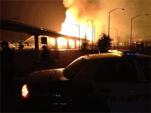 BART stopped transbay service following a predawn fire in West Oakland.