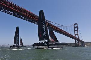 America's Cup Oracle Racing AC45 San Francisco Golden Gate Bridge