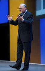 HP CEO's hosting analyst conference