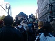 Protesters at 14th and Broadway, Oakland.