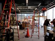 Construction continues on the Joe Henderson Lab, which is expected to open in February. It will seat 70 people and function as a rehearsal and a small performance space.