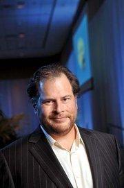 No. 3: Salesforce.com Inc  2012 FY revenue: $2,270,000,000  Percent change in revenue from 2011 FY: 36.99%  Top Bay Area executive: Marc Benioff