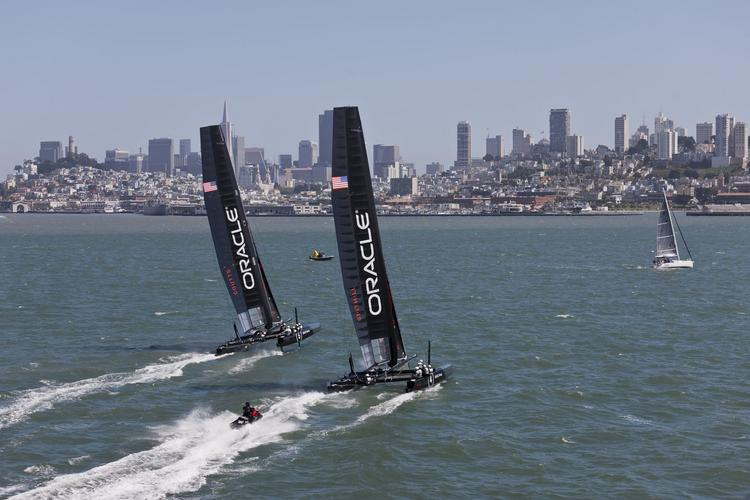 America's Cup officials dropped plans to rehab Piers 30-32, but the 2013 event will still go on as planned, said San Francisco Mayor Ed Lee.
