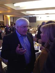 Angel investor Ron Conway also attended the Chamber breakfast and stressed the importance of creating jobs in San Francisco.
