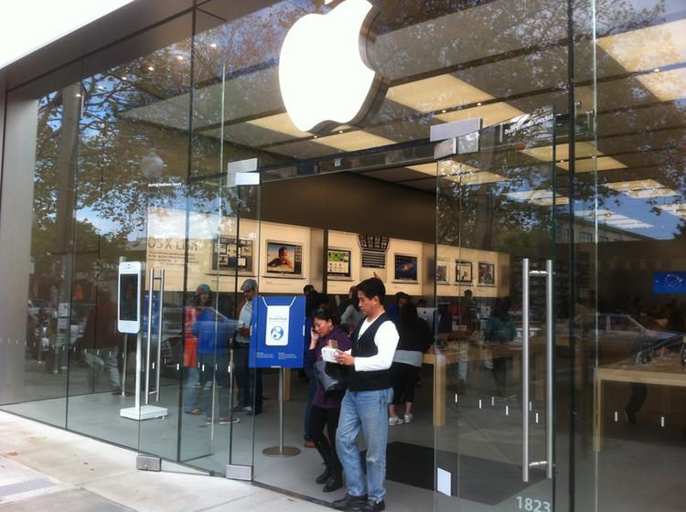 An Apple retail store on Fourth Street in Berkeley.