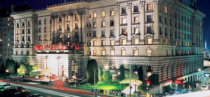 The Fairmont Hotel on San Francisco's Nob Hill.