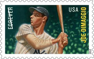Joe DiMaggio will appear this summer on a first class U.S. stamp.