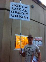 A protester at the Occupy Oakland camp.