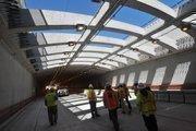 """The new Doyle Drive tunnel has a """"skylight."""""""