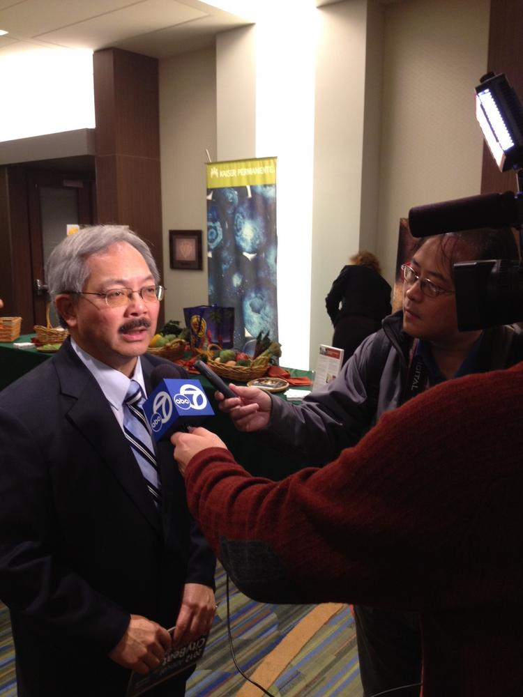 Ed Lee loves being the center of news media attention.