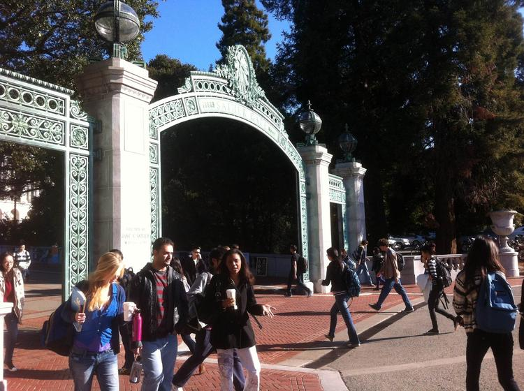 Four students from a Berkeley charter school will be among the crowd passing through Cal's Sather Gate this fall.