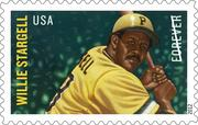 Willie Stargell will appear this summer on a first class U.S. stamp.
