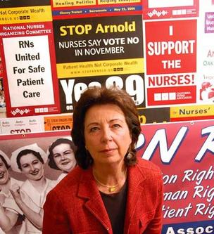 Rose Ann DeMoro, CNA's longtime executive director.