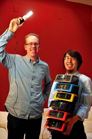 Fenix VP Luke Filose, left, and CEO Mike Lin want to give Africa a charge.