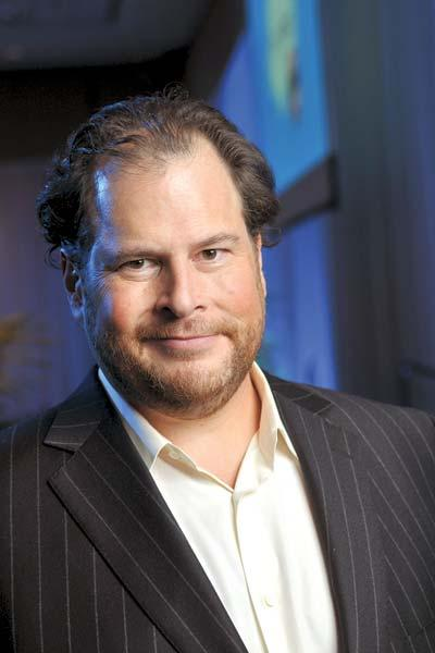 Salesforce.com CEO and Chairman Marc Benioff.