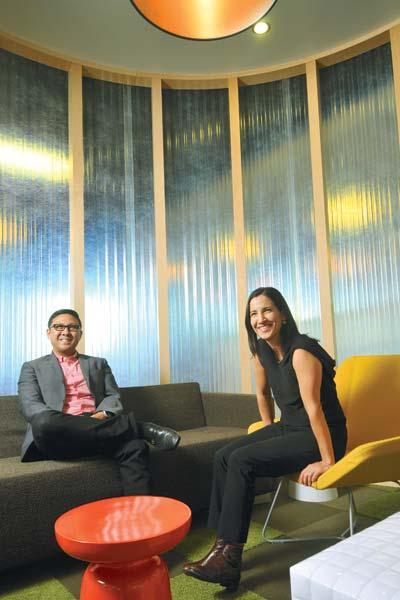 Primo Orpilla (left) and Verda Alexander — in AOL's Palo Alto digs — are a little jaded by next-big-thing startups.