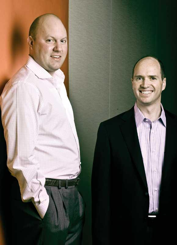 A competing VC says the firm founded by Marc Andreessen, left, and Ben Horowitz has shaken up the industry by forcing everyone to be more proactive in reaching out to potential funding targets.