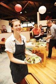 Chef Thea Baumann joins her fellow Thumbtack staffers for a gourmet lunch.