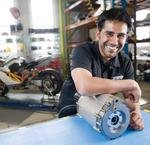 Electric motorcycle parts maker shifts gears