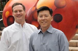 Sean Bourke (left) with Conrad Lai