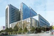 A rendering of the earlier plan for CPMC's Cathedral Hill complex.