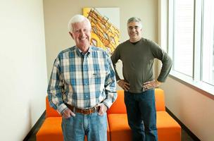 Former PeopleSoft executives Dave Duffield, left, and Aneel Bhusri started Workday Inc. and run it together.