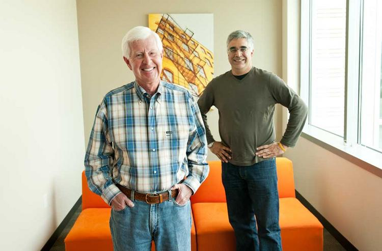 Workday Inc. co-founders and co-CEOS Dave Duffield and Aneel Bhusri.