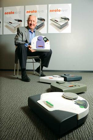 Warren Flick's Neato Robotics has sold 100,000 robot vacuum cleaners since mid-2010.