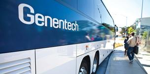 Companies like Genentech that offer shuttle services between San Francisco and the Peninsula are driving a private bus boom.