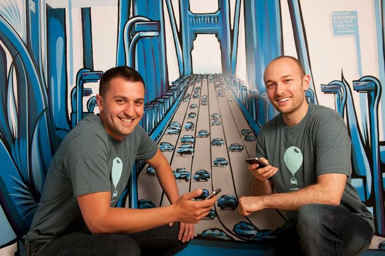 Lyft CEO Logan Green, right, and COO John Zimmer.