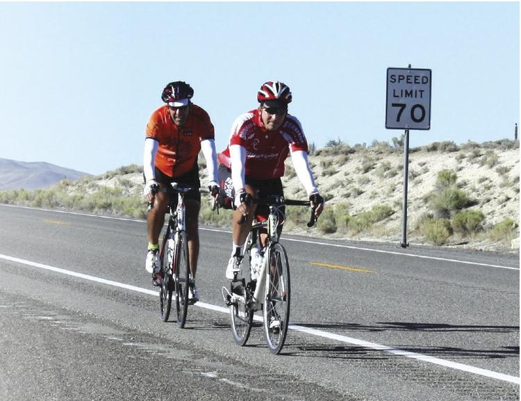 Precept Senior Vice President Matt Swinnerton (right) and his friend  Chris Dittmore took two months to bike 3,934 miles across the United  States, from San Francisco to Boston.