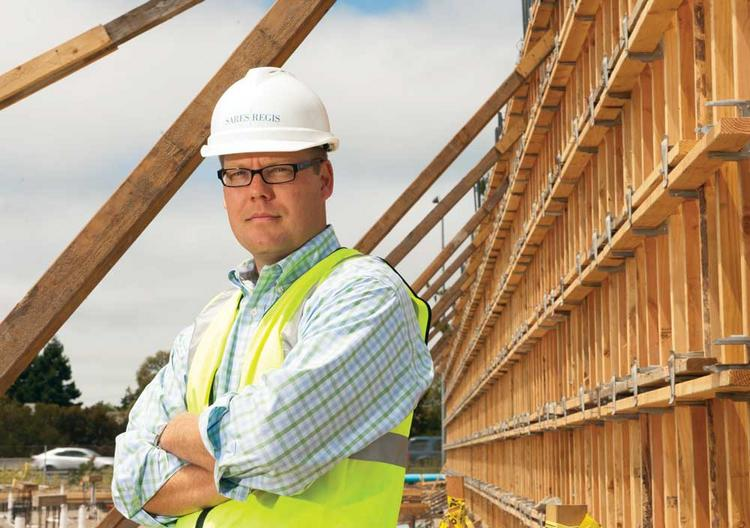 Drew Hudacek of Sares Regis says his firm is focusing on apartment projects in San Mateo and Foster City.