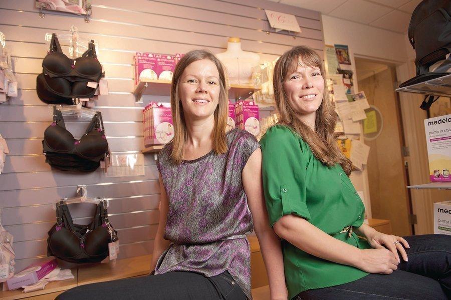 d24da1f2e38a1 Joy Kosak, right, and Debra Abbaszadeh, sisters who co-founded the  breastfeeding