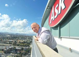 Ask.com is staying put in Oakland City Center after the firm improved traffic and revenue. CEO Doug Leeds is pictured at the firm's Oakland headquarters at 555 12th St.