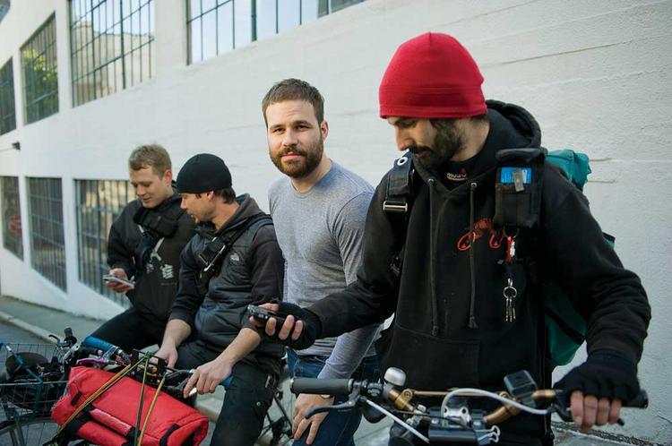 Bastian Lehmann, in grey shirt, is cofounder and CEO of Postmates.