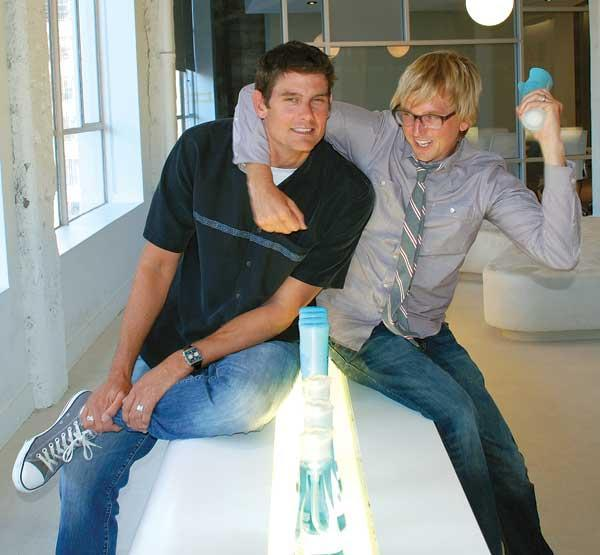 Adam Lowry (left) and Eric Ryan founded Method in 2001 to disrupt the cleaning products market. They announced its sale to competitor Ecover Sept. 4.