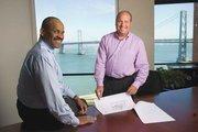 MacFarlane (left) and Greg Vilkin have carried on with MacFarlane Partners' focus on urban housing.