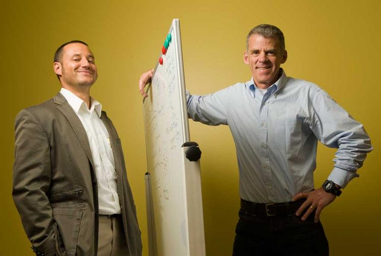 Julien Mamet (left) and Rick Orr at Adynxx aim to nip pain before it becomes chronic.
