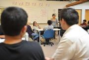 At BUILD's headquarters in Redwood City, students toss around business ideas.