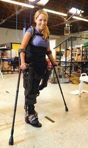 Tamara Mena uses Ekso Bionics equipment to regain the ability to walk.
