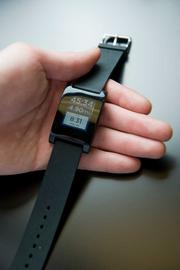 "Pebble Technology's ""smartwatch,"" which links to cell phones, raised more than $10 million through crowdfunding."