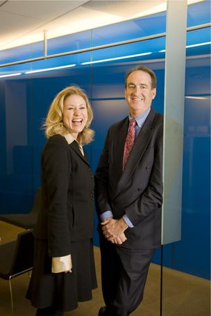 Kristen Miranda of Blue Shield and Richard Fish of Brown & Toland.