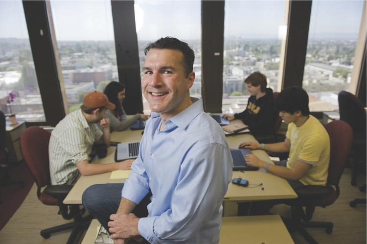 Mitch Gordon, a second-year M.B.A. student at Cal, is CEO and co-founder of GoOverseas, which has made use of resources offered by Cal's Skydeck inubator.