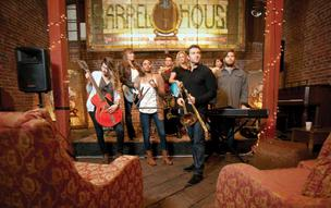 Andrew O'Dell (with trombone) leads the crew at Pereira & O'Dell, an advertising agency based in San Francisco.