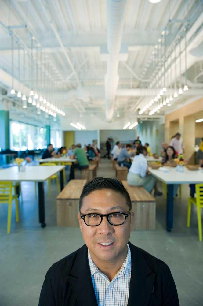 Primo Orpilla, principal at Studio A+O, says companies are asking for expensive kitchens.