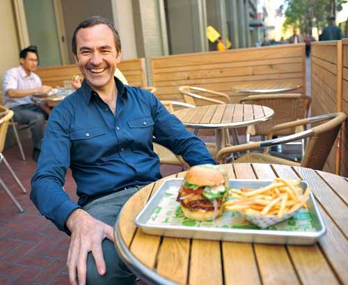 """Super Duper order: """"Fast food doesn't have to be evil,"""" says owner Adriano Paganini."""