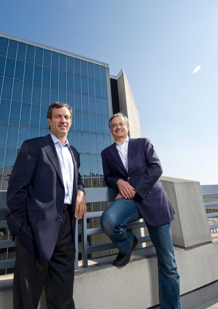 """""""We thought it was a great raw asset,"""" says TMG's Mike Covarrubias, right, with Matt Field."""